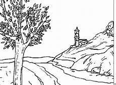 malvorlagen landschaften gratis und original baum und fluss ausmalbild malvorlage landschaften