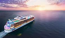 cruise royal caribbean unveils world s cruise ship wonder of the seas pictures