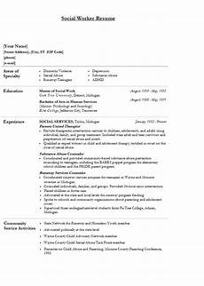 modern social worker resume template sle