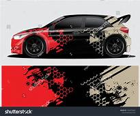 Rally Car Decal Graphic Wrap Vector Abstract Background