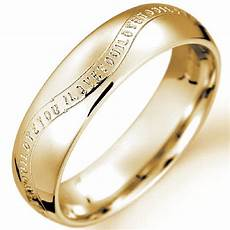 gold wedding rings engraved letters miracle wedding rings