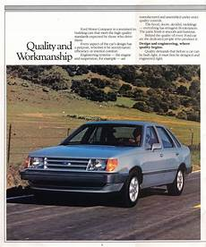 car repair manual download 1985 mercury topaz parking system 1985 ford tempo sport gl 4 door sedan ford ford motor company vintage cars