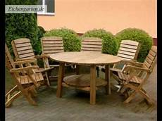 Gartenmöbel Set Holz - runde holz gartenm 246 bel set