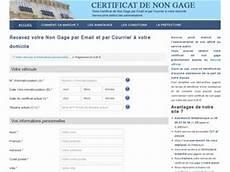 Avis Certificat De Non Gage Avis Site