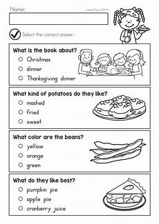 thanksgiving dinner worksheet printable worksheets