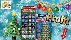 christmas advent merry millions scratch card profit win youtube