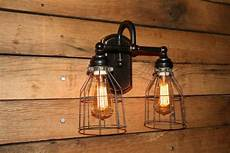 vanity light wall sconce 2 wire cage bathroom light wall light edison bulbs included