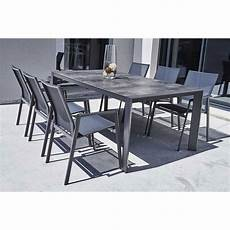 table jardin et chaise ensemble table et chaise de jardin en aluminium gris