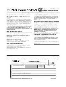 irs form 1041 v download fillable pdf or fill online