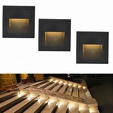 waterproof outdoor led stair step light 3w recessed wall