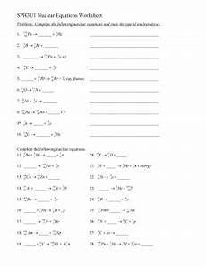 physical science nuclear reactions worksheet 13181 nuclear chemistry test review