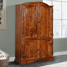 Modern Rustic Solid Wood Large Wardrobe Armoire