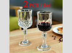 2 PCS / Set Red Wine Glass Cup Crystal Glasses Cup for Bar