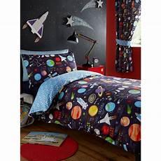 parure de lit espace planets single duvet cover and pillowcase set