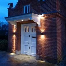 garden pillar lights a creative symmetrical lighting display each side of a front door