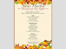Thanksgiving Day Buffet   Stone Harbor Resort