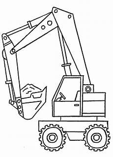 Ausmalbild Bagger Einfach Malvorlage Bagger Coloring And Malvorlagan