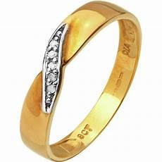 buy 9ct gold diamond accent twist wedding ring 3mm at