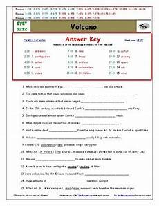 differentiated worksheet quiz ans for eyewitness volcano tpt