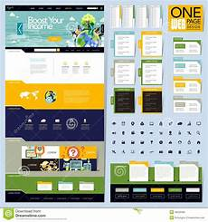 creative folder style one page website design stock vector image 46235390