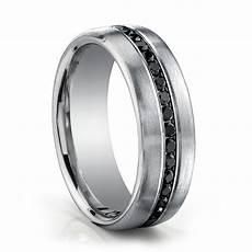 benchmark black diamond wedding band 14k white gold black diamonds mens ring