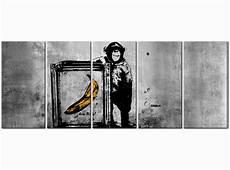 Bild Auf Leinwand Banksy Monkey With Frame Banksy