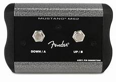 fender mustang 4 fender mustang iv v 2 button programmable footswitch sweetwater