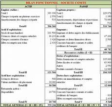 bilan de societe pr 233 senter le bilan fonctionnel d une soci 233 t 233 exercice