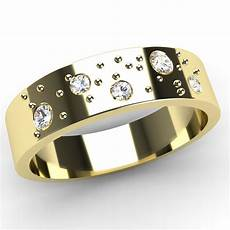 new fizzy diamond 9ct yellow gold flat band wedding rings hallmarked ebay