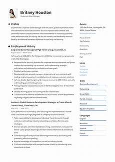 corporate sales manager resume writing guide 12