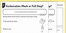 punctuation worksheets exclamation marks 20750 new exclamation or stop differentiated activity sheets differentiation
