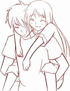 Anime Malvorlagen List Anime Couples Drawings Huckepack Vorlage