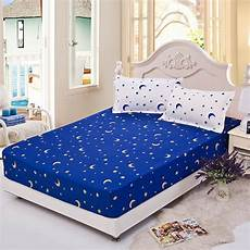 moon stars printing fitted sheet with elastic band bed sheets mattress cover 1pc fitted