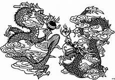 japanische drachen ausmalbild malvorlage blumen