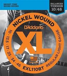 D Addario Balanced Tension Exl Guitar Strings Strings And