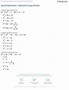division of polynomials worksheets with answers 7014 quiz worksheet polynomial division study
