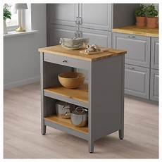 stylish freestanding kitchen islands carts in 2020 tornviken kj 248 kken 248 y gr 229 eik in 2020 grey kitchen