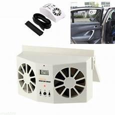 Solar Powered Auto Car Window Air Vent Ventilator Mini Air