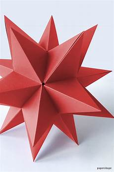 basteln weihnachten sterne step by step how to make a 3d from paper for
