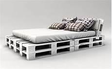 Kopflehne Fürs Bett - palettenbett bauen weiss streichen zimmer palettenbett