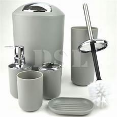 bathroom3 accessory set 6 pcs silver dealsdirect co nz