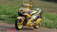 Modifikasi Aerox 155 Kuning by Yamaha Aerox 155 Vva 2017 Modifikasi Praktis Ala Bumble