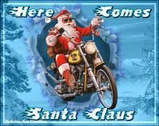 weihnachtsmann auf motorrad gif santa motorcycle gifs find on giphy