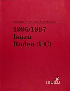 how to download repair manuals 1997 honda passport electronic valve timing 1997 isuzu rodeo honda passport repair shop manual original