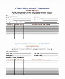 free 12 supply request forms in pdf ms word excel