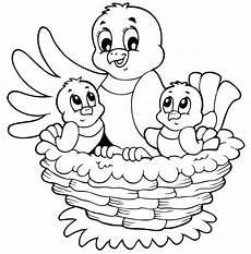 malvorlage vogel im nest kostenlose malvorlage ostern vogelnest mit zwei k 252 ken zum