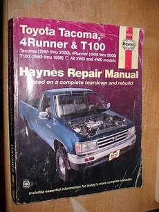 hayes auto repair manual 1995 toyota t100 user handbook find 1995 2000 toyota t 100 tacoma 4 runner service manual shop book haynes repair motorcycle