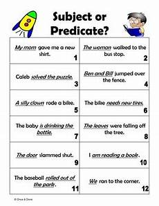 subject or predicate identify the subject and predicate of a sentence