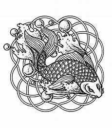 Malvorlagen Mandala Fische Mandala Fish And Bubbles Mandalas Coloring Pages