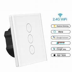 Dual Wifi Smart Light Wall Switch by Wireless Smart Light Dimmer In Wall Power Switch Touch